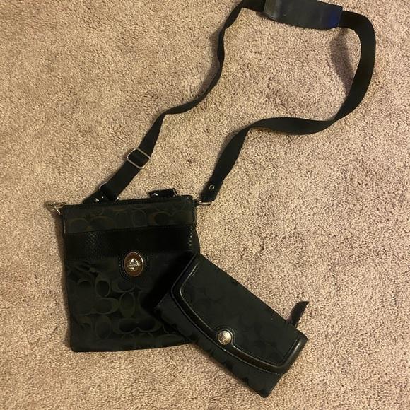 Coach Handbags - Coach Crossbody Wallet + Purse